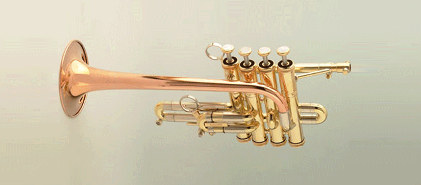 Hoch B/A-Piccolo-Trompete