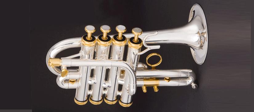 Hoch B/A-Piccolo Trompete, kurzes Modell